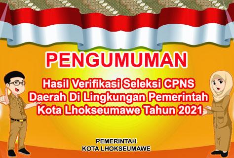 Pengumumna HAsil Verifikasi Adm CPNS 2021